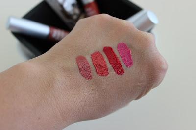 theBalm Meet Matte Liquid Lipsticks swatches