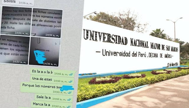 Denuncian plagio en examen de admisión virtual de la Universidad San Marcos