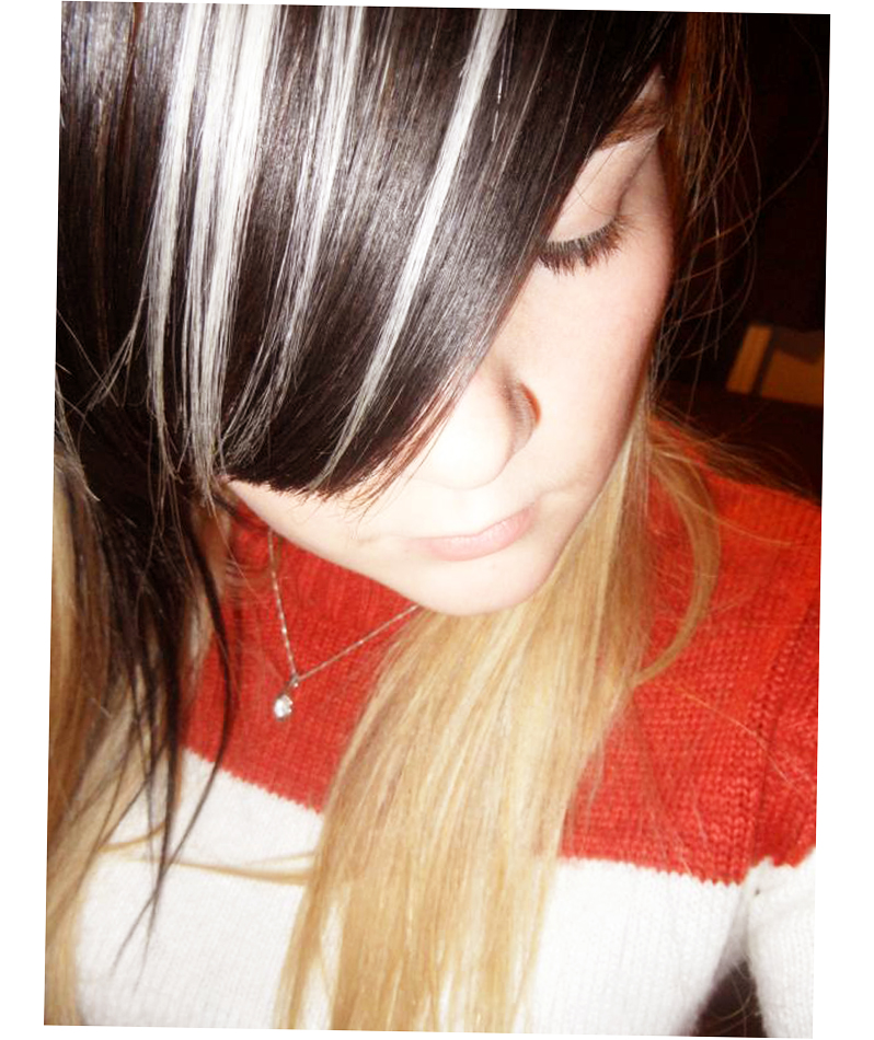 Black Hair With Blonde And Red Highlights Ellecrafts