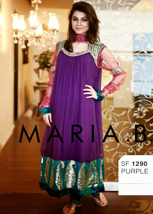 Latest Frock Designs for Girls By Maria.B