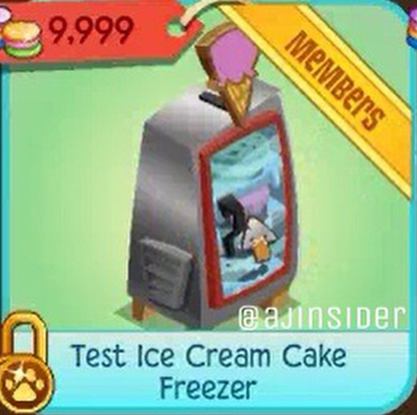 This item is a test version of the Ice Cream Cake Freezer. I have no idea why this even exists, or why theyd need to test out ice cream freezers.
