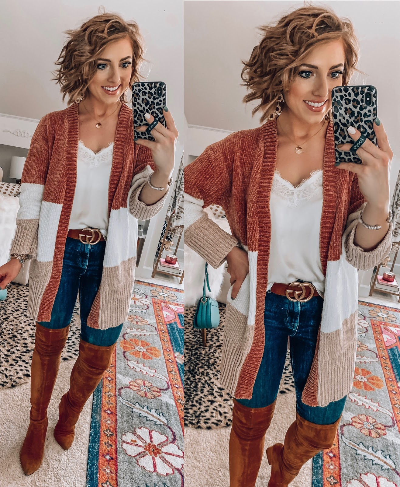 Recent Amazon Finds: Sweaters & Cardigans Edition - $32 Chenille Cardigan - Something Delightful Blog #FallStyle #AmazonFashion #AffordableStyle