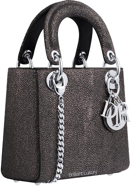 ♦Dior brown and black lizzard Lady Dior bag #dior #bags #ladydior #brilliantluxury