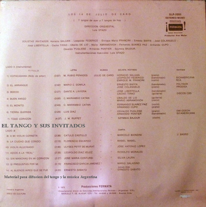 Música: - fragmento de la novela - Finnish Tango