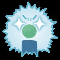 暴走した免疫細胞(サイトカインストーム)のイラスト