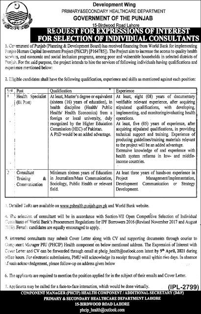 health-department-punjab-jobs-2021-advertisement