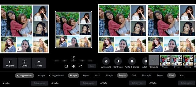 personalizzare collage foto