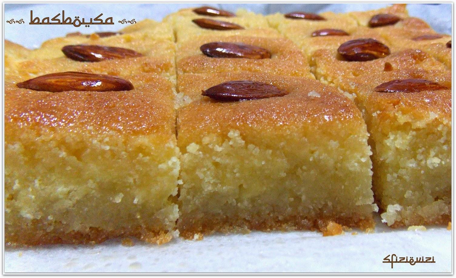 Sfizi vizi ricetta dei basbousa un dolce che parla for Ricette dolci
