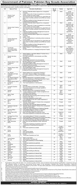 pakistan-boy-scouts-association-jobs-2021-Advertisement-islamabad
