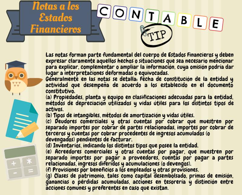 Contable Tip: NOTAS A LOS ESTADOS FINANCIEROS