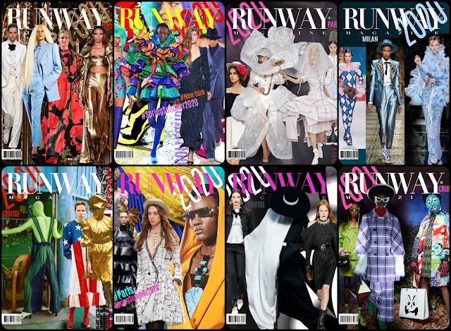 RUNWAY MAGAZINE 2019-2020 covers