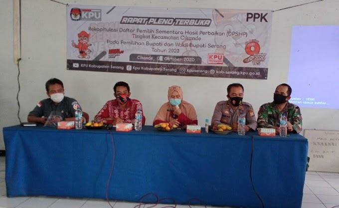 Dukung Pilkada Damai, Babinsa Koramil 0219/Cikande Hadiri Rapat Pleno Rekapitulasi DPSHP