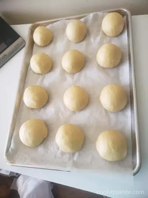 My homemade brioche buns are made wonderfully and are sprinkled with some sesame seeds