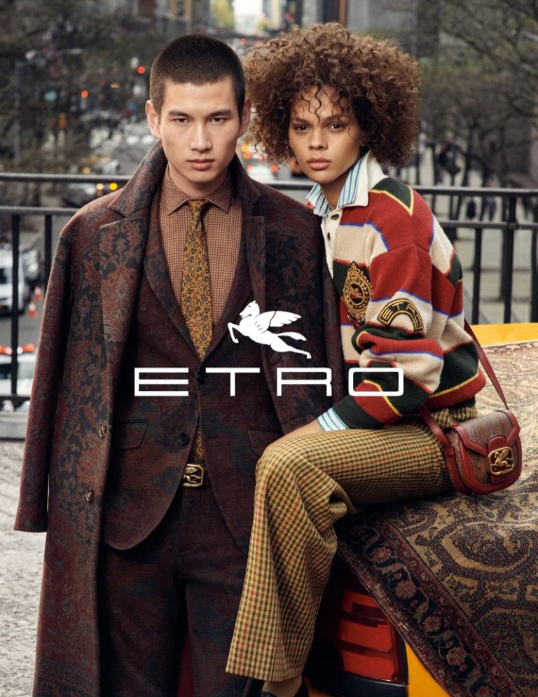 Hiandra Martinez and Kohei Takabatake front Etro fall-winter 2019 campaign