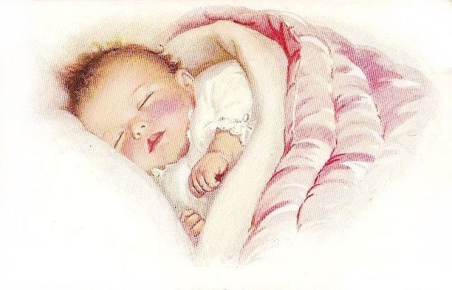 Image ancienne bébé qui dort