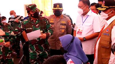 Didampingi Gubernur Olly, Panglima TNI Bahas Vaksinasi Bersama Forkopimda Sulut