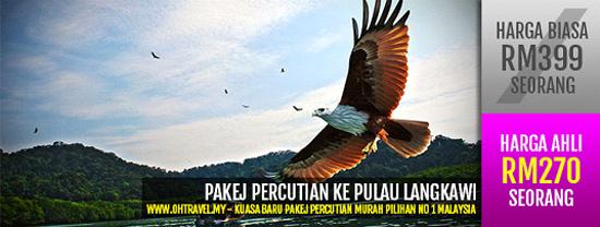 Pakej Cuti Bajet ke Pulau Langkawi