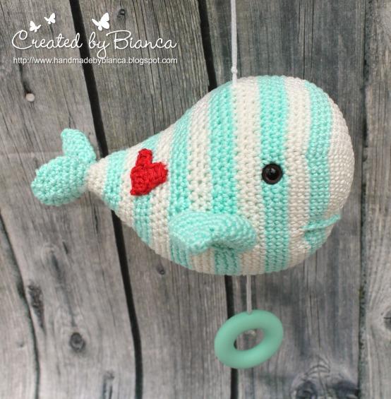 Handmade By Bianca Spieluhr Gehäkelt Kleiner Wal