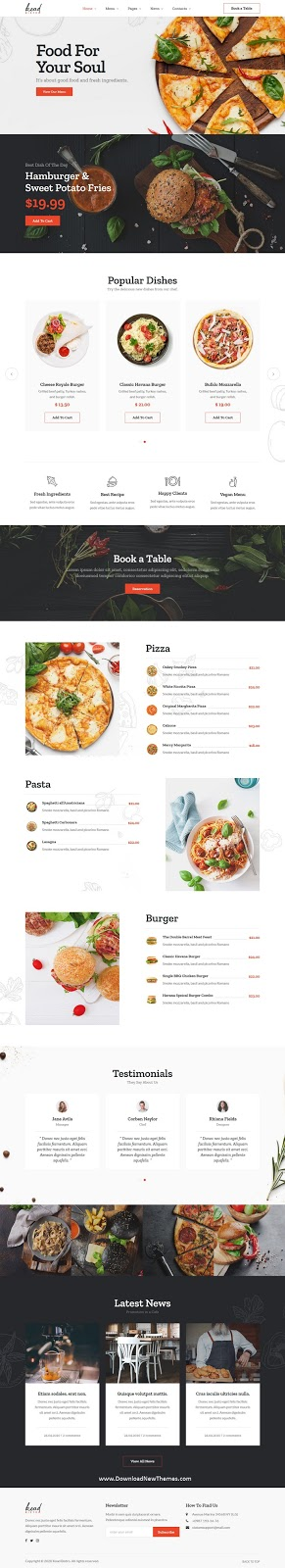 Best Restaurant & Bistro Website Template