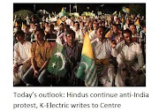 Today's view: Hindus continue anti-India protests, writes K-Vidyutikendra
