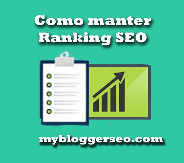 Como manter o SEO ranking do seu Blog