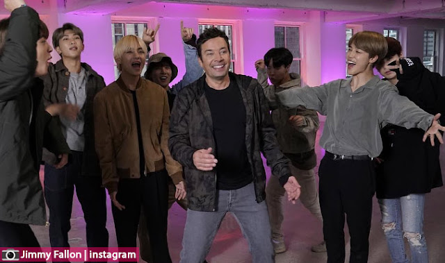 BTS تعود الى الأضواء و العناوين العالمية بعد ظهورهم في فالون تونايت