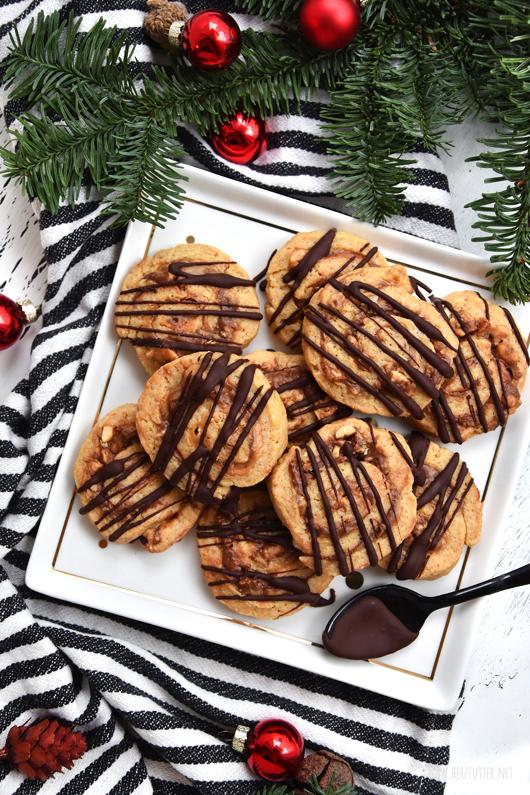Swirl Cookies mit Erdnüssen und Nutella