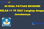 Soal PAT / UAS Ekonomi Kelas 11 Tahun 2021 (Lengkap dengan Jawabannya)