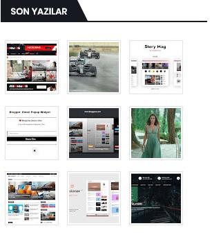 Blogger için Havalı Son Yazılar  widgetleri