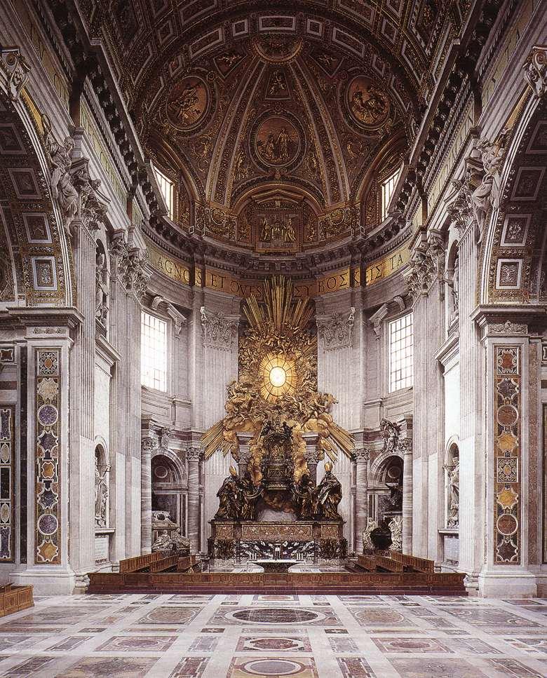 Ms clases de arte Bernini Ctedra de San Pedro 1657 66