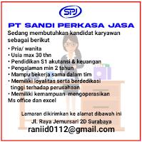 Bursa Kerja Surabaya di PT. Sandi Perkasa Jasa Februari 2021