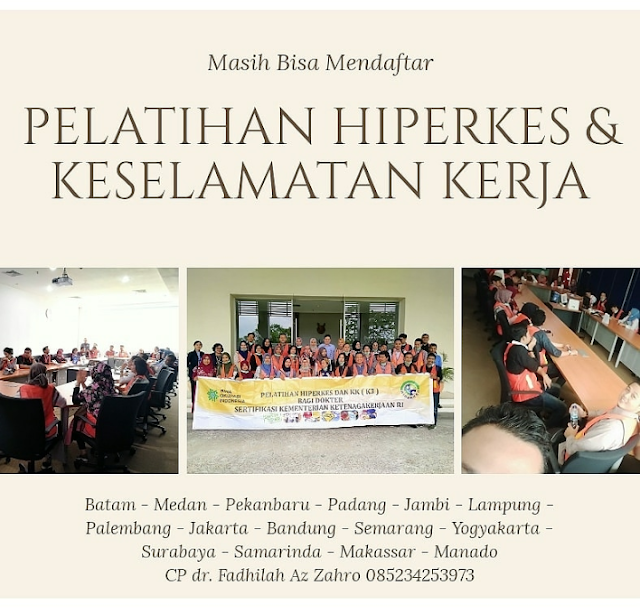 Pelatihan Hiperkes dan Keselamatan Kerja   Penyelenggara PT Bina Okupasi Indonesia Jadwal November - Desember 2019