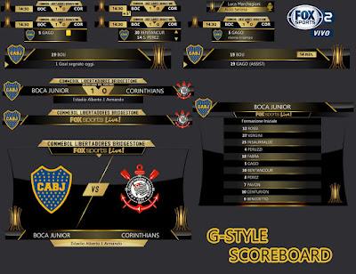 PES 2017 Libertadores Scoreboard