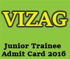 vizag steel plant admit card 2016