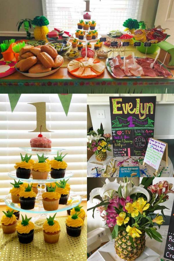 Hawaiian themed birthday party for kids.