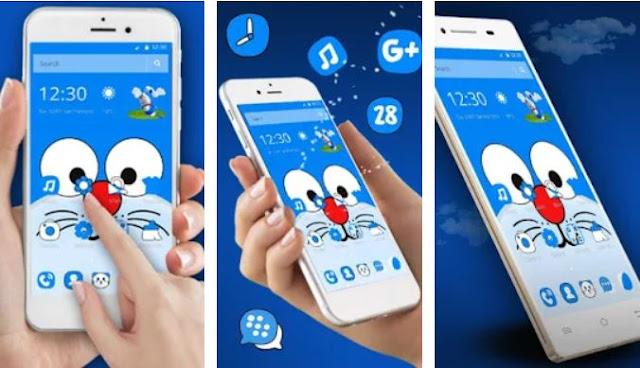 Tema Doraemon Blue Cat Wallpaper