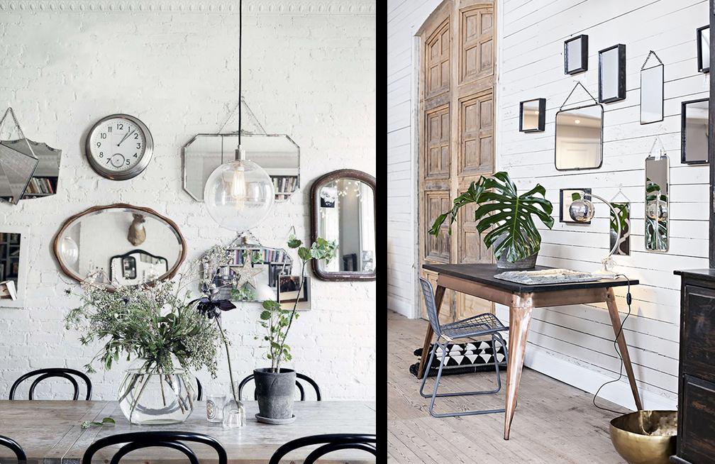 la fabrique d co reflets et d co le miroir dans la maison. Black Bedroom Furniture Sets. Home Design Ideas