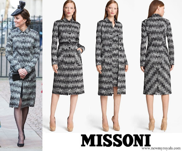 Kate Middleton wore Missoni Long Snake Stitch Coat