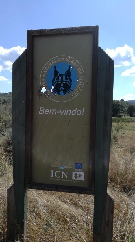 Placa da reserva Natural da Serra da Malcata