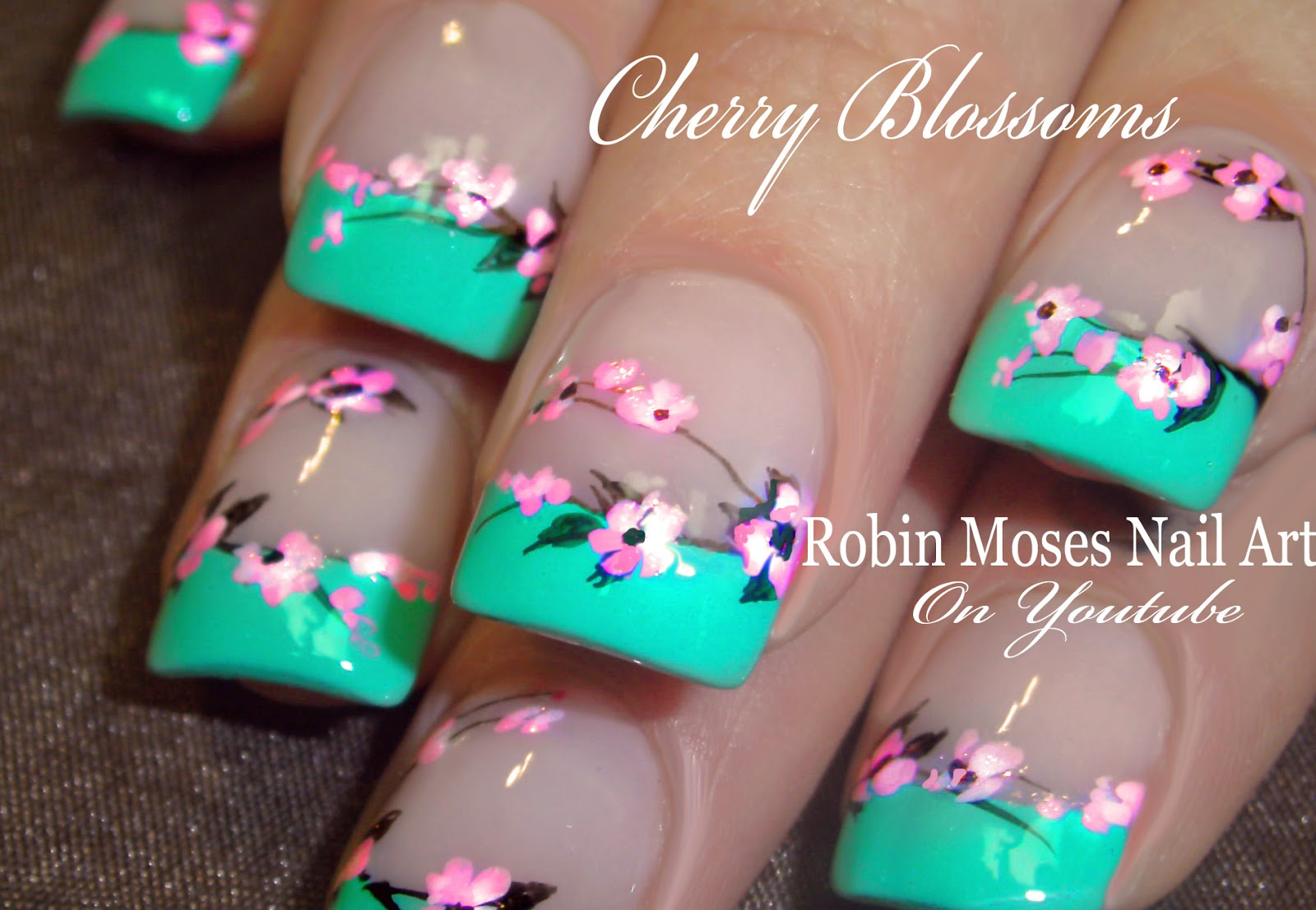 Cherry Blossom Nail Art 2016 Full Length Design