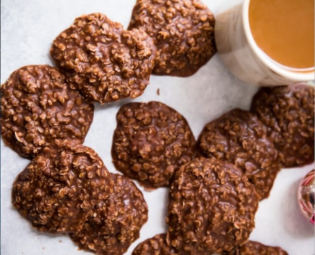 Chocolate Peanut Butter No Bake Cookies #cookies #nobake