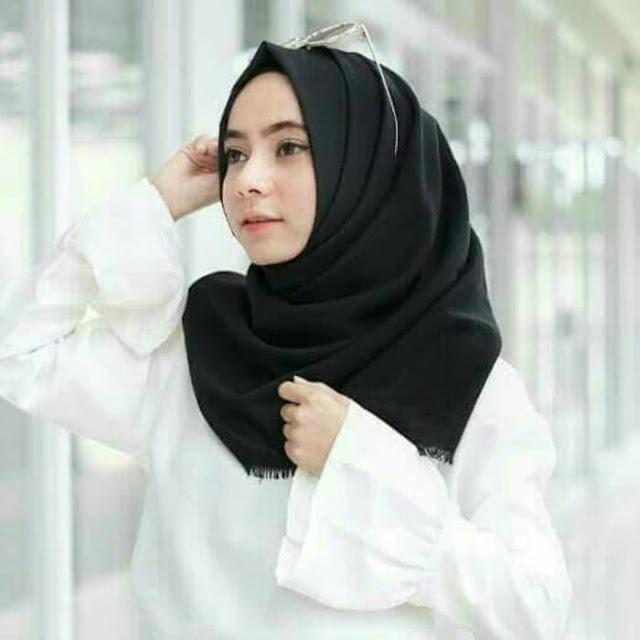 Jilbab Segi Empat Saudia Rawis katun premium