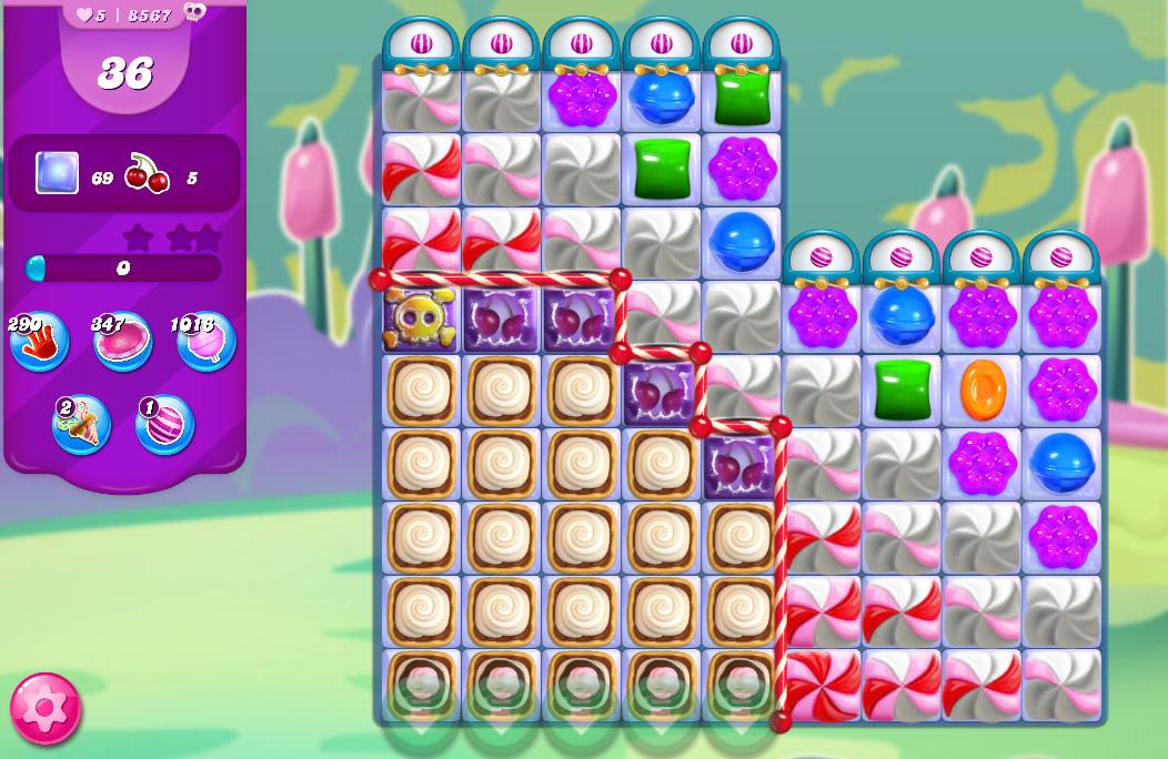 Candy Crush Saga level 8567