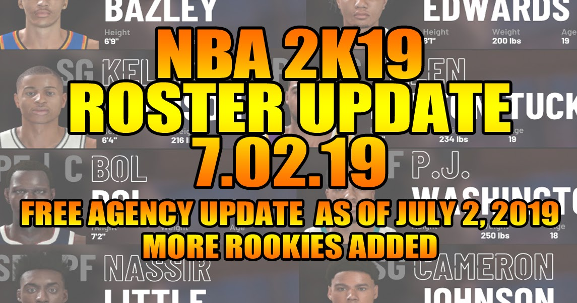 NBA 2K19 ROSTER UPDATE 7.02.19 FREE AGENCY UPDATES + MORE ... Nba 2k14 Graphics Comparison
