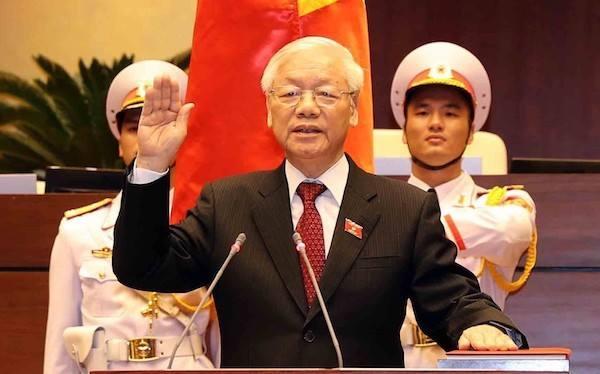 Tổng bí thư, Chủ tịch nước Nguyễn Phú Trọng tuyên thệ trước Quốc hội