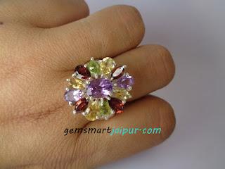 multi stone engagement ring