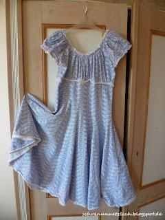 Mädchenkleid aus Jersey, Schnittmuster Elodie von Farbenmix