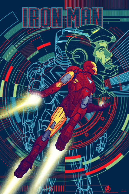Mondo - Iron Man The Avengers Standard Edition Screen Print by Kevin Tong
