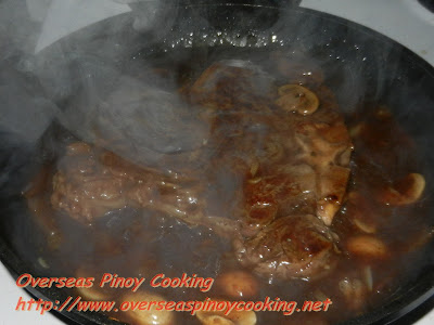 T-Bone Steak with Mushroom and Oyster Sauce - Cooking Procedure