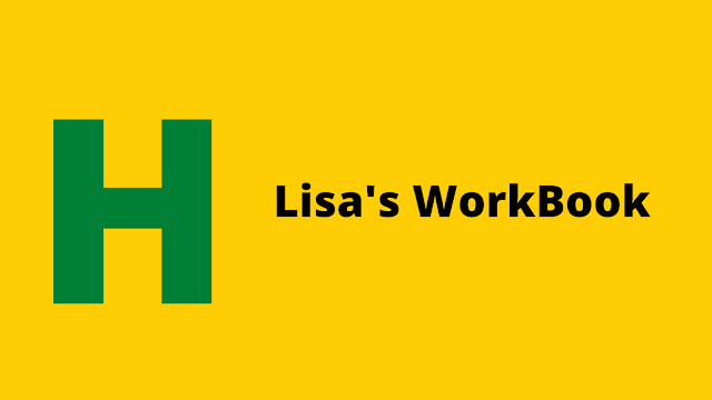 HackerRank Lisa's Workbook problem solution